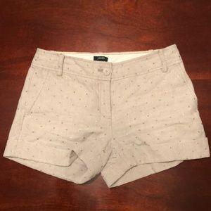 J.Crew City Fit Glitter Dot Shorts